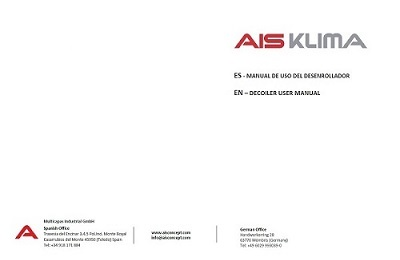 decoiler user manual ais klima front